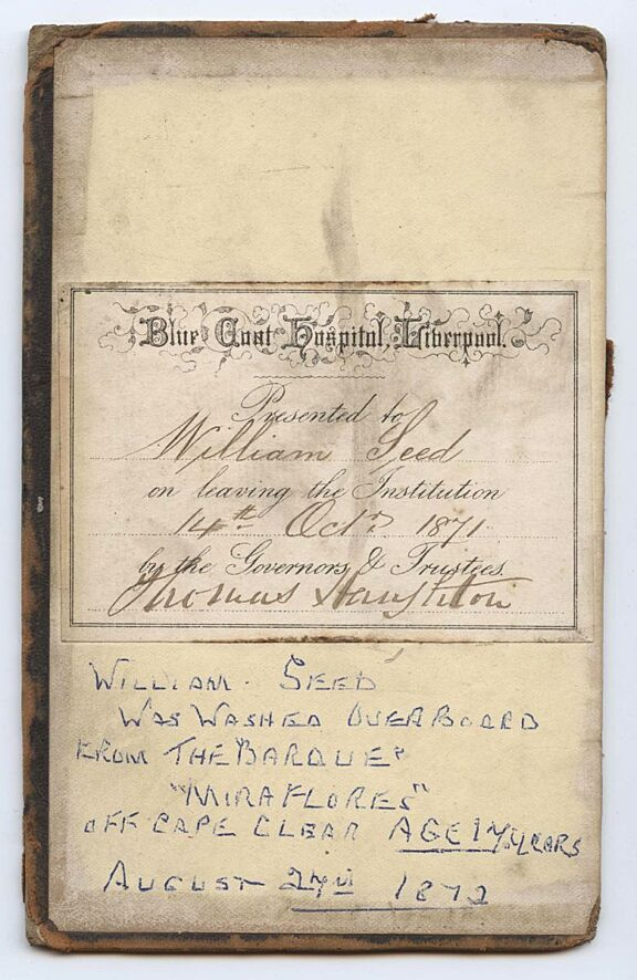 The Bible of Blue Coat School Pupil, William Seed