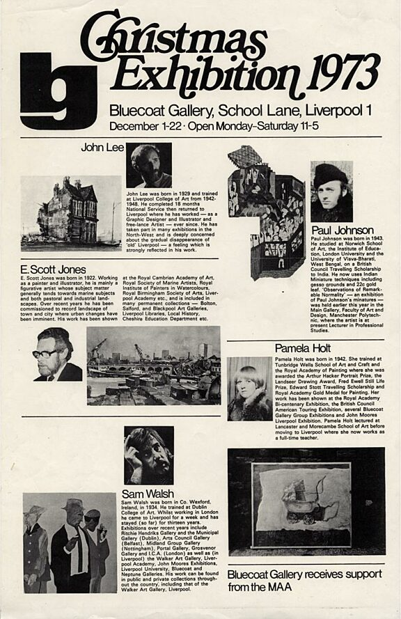 Poster for Christmas Exhibition, 1973
