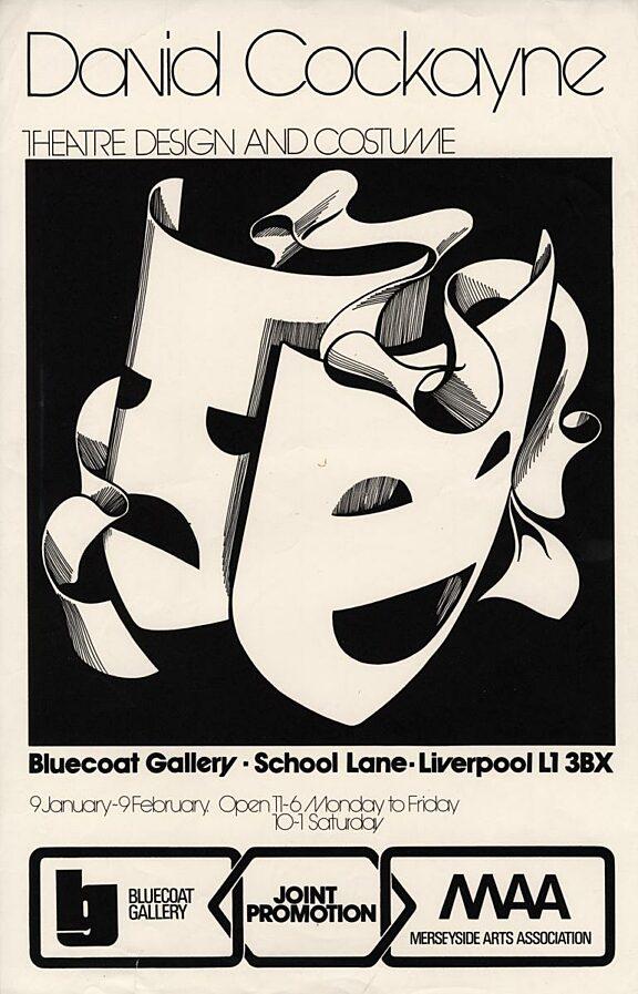 Poster for David Cockayne exhibition