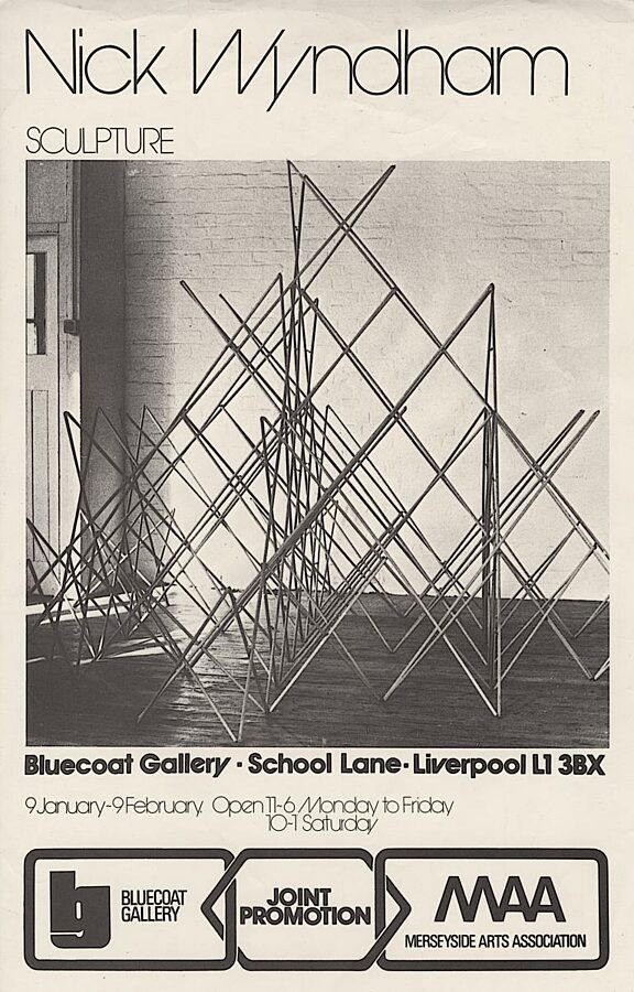 Poster for Nick Wyndham Sculpture exhibition