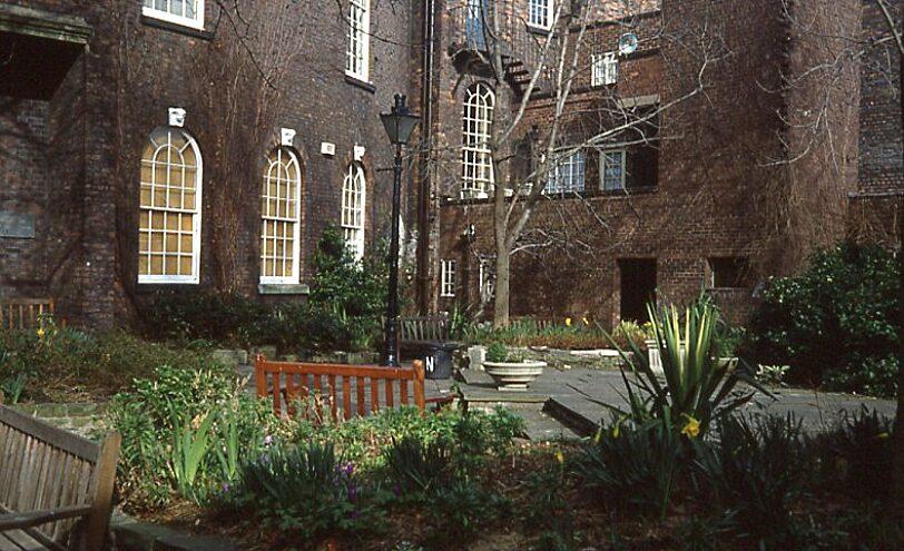 The Bluecoat caretaker's flat, from the garden