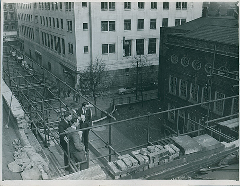 Post-war repairs to Bluecoat
